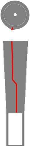 バックラインの位置5