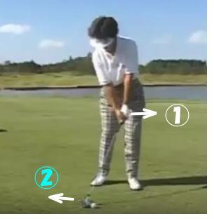 ゴルフのフォワードプレス