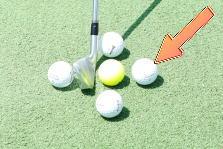ゴルフのセットアップ時のボールの位置は?3