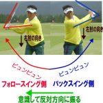 フォローの左ひじの引けも治っちゃうゴルフエッグの飛距離アップ素振りPart4