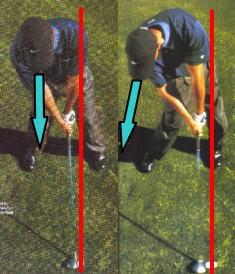 ビハインドザボールは1秒でできる。ゴルフの軸その2!上達練習方法