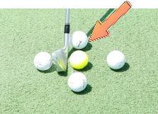 ゴルフのセットアップ時のボールの位置は?1