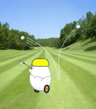 ゴルフでスロープレーはいけません。