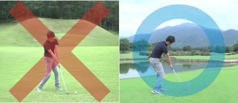 ゴルフの個別動画診断