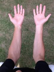 ゴルフの腕の使い方写真