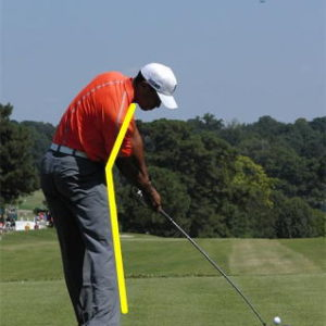 おなかの出っ張りとゴルフスライスの関係(;^_^A スライス・フック撲滅作戦第5弾